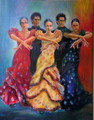 Flamenco dancers 4 by Sylva Zalmanson