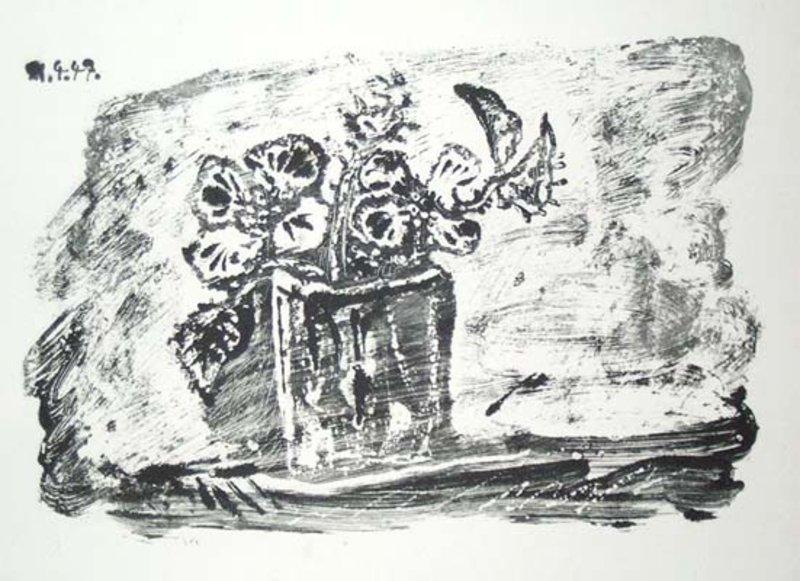 Le petit pot des fleurs original art by pablo picasso for Picasso petite fleurs