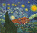Dreaming on a Starry Night (after Van Gogh) by Jirapat Tatsanasomboon