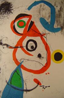 Barcelona Plate no. 8 by Joan Miró