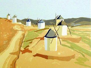 Seven Windmills, Consuegra by David Kenning