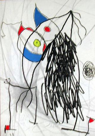 Passage de L'Egyptienne XVII by Joan Miró