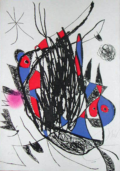 Passage de L'Egyptienne XXV by Joan Miró