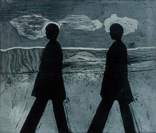 Two Walking Figures by Jan Neale
