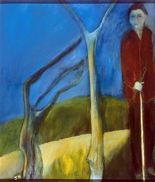 Boy with Stick by Jan Neale