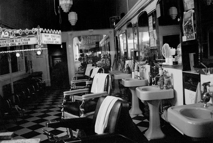 Barber Shop Original Art by Bettina Salomon :: PicassoMio