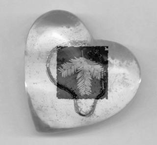 Glass Heart & Yew by Paula Moss