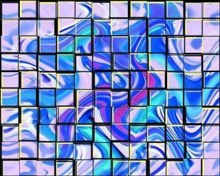 Mosaic Purple by Nasir Shiraz