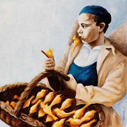 Flutes' Seller by Agata Rogalska