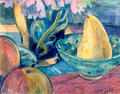 Fruit and Blue Bowl by June Lisle