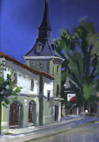 Village Outside Madrid by John Govett