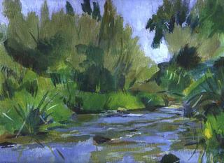 River Outside Madrid by John Govett