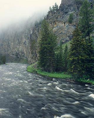 Firehole River, Yellowstone Park. by Larry Friedman