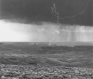 Lightning, Firehole by Larry Friedman