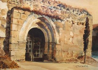 Iglesia de Peñaflor by Carmela Rodríguez Ruiz