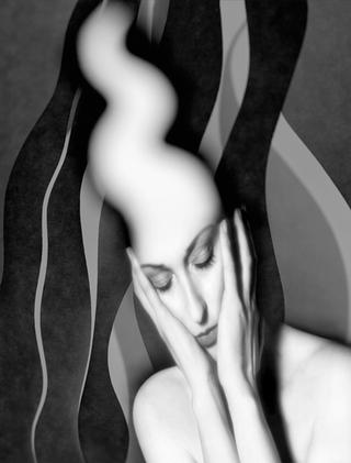 Metaportraits. Woman in Thought by Franco Donaggio