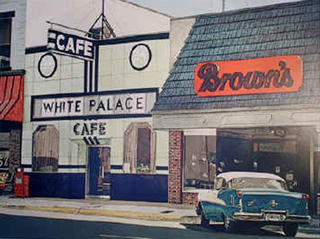 White Palace Café by John Baeder