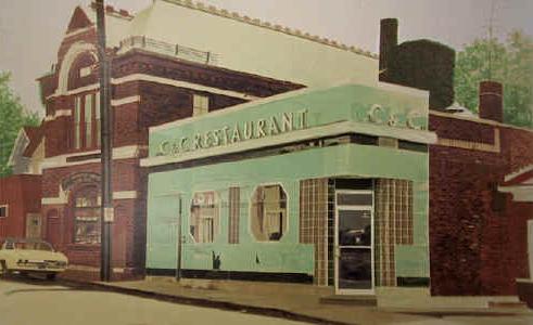 C and C Restaurant by John Baeder