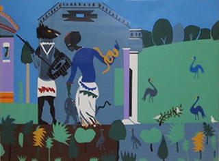 Circe into Swine from the Odysseus Suite by Romare Bearden
