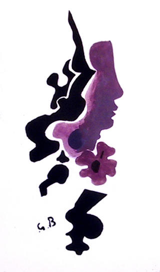 Profil by Georges Braque