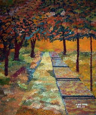 Invisible Monet Walking Under the Trees by Mayland Rey-Zheng