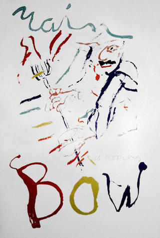 Rainbow-Thelonius Monk-Devil at the Keyboard by Willem De Kooning