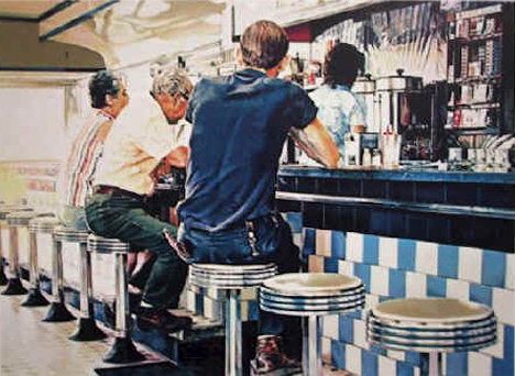 Tiled Lunch Counter Original Art By Ralph Goings Picassomio