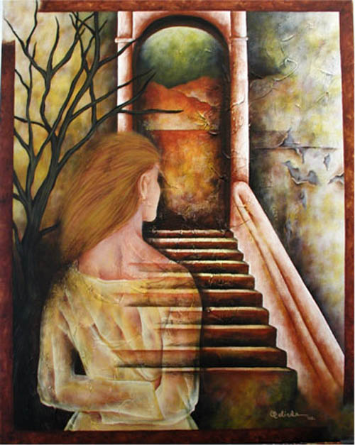 Spiritual Door by Belinda Flores Shinshillas & Spiritual Door Original Art by Belinda Flores Shinshillas :: PicassoMio