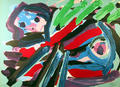 Walking with my Bird by Karel Appel