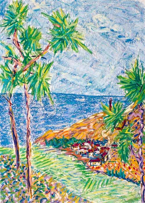 Palm Trees Landscape by Juan Dalmau Gallarza