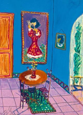 Three Chairs with the Spanish Woman by Juan Dalmau Gallarza