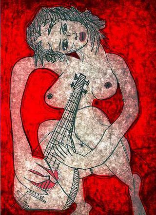 Woman with Mandoline by Juan Dalmau Gallarza