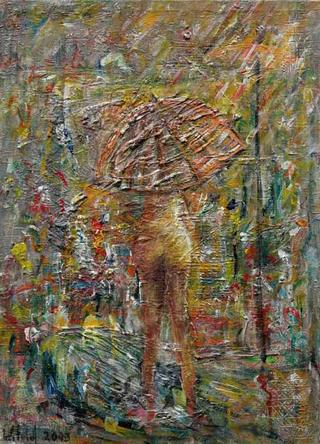 Woman under a Parasole by Witold Podgorski