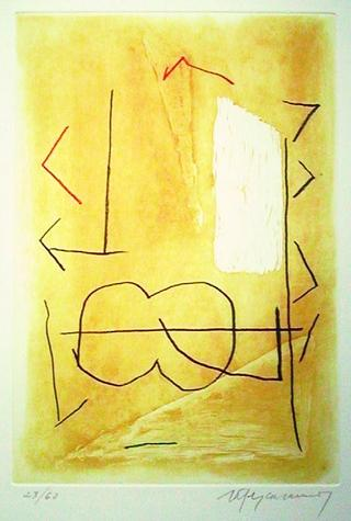 Braque, Ocre (from the Policromia Series) by Albert Rafols Casamada