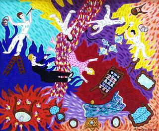 Painters at Home by Blanca Sagastizabal