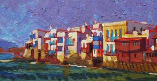 Little Venice Mykonos Greece by Gregory Alexander RWS