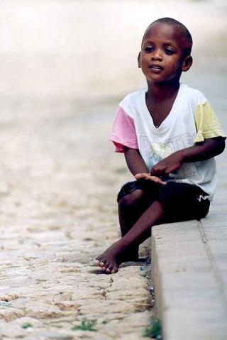 Sitting Boy, Africa by Anya Bartels-Suermondt