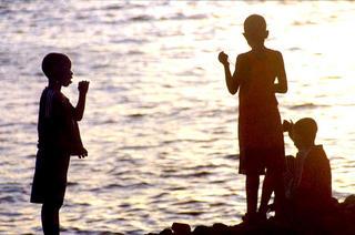 Boy's Sillhouettes, Africa by Anya Bartels-Suermondt