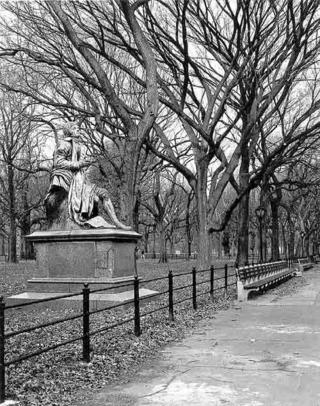 Statue of Robert Burns, Central Park by George Romanation