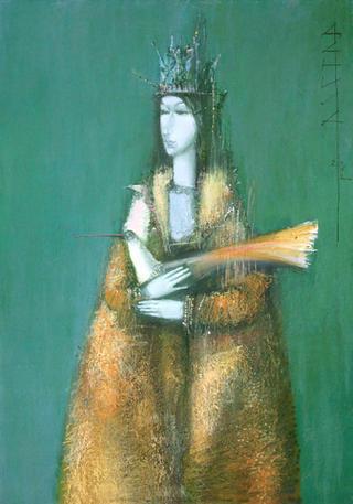 Woman with Bird by Daniil Menshikov