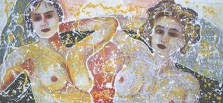 Two Women by Salvatore Tonnara