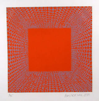 Summer Suite (Blue on Red) by Richard Anuszkiewicz