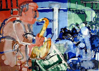 Stomp Time (From the Jazz Series) by Romare Bearden