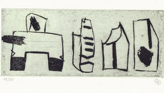 Composition with Towers I by Carmen Santacatalina