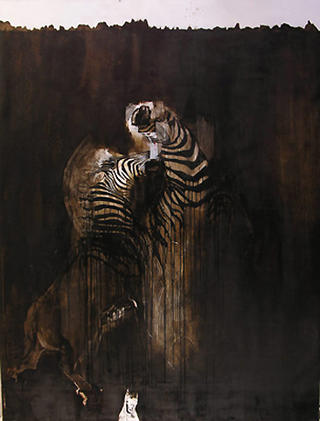 Quagga Stallions by Richard Allen