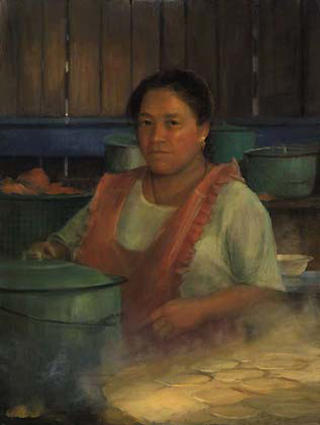 Baking Bread, Chichicastenago by Pip Todd Warmoth
