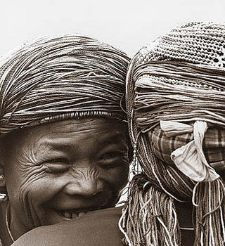 Laughing Ladies II by Tim Hall