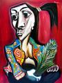 Woman with Flowers by Raúl Cañestro