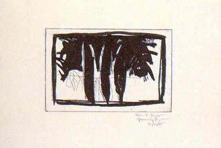 Xiprers al Claustre by Joan Hernández Pijuan