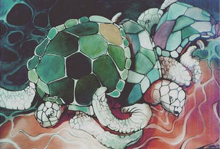 Turtles Times Three by Shirley Dickie